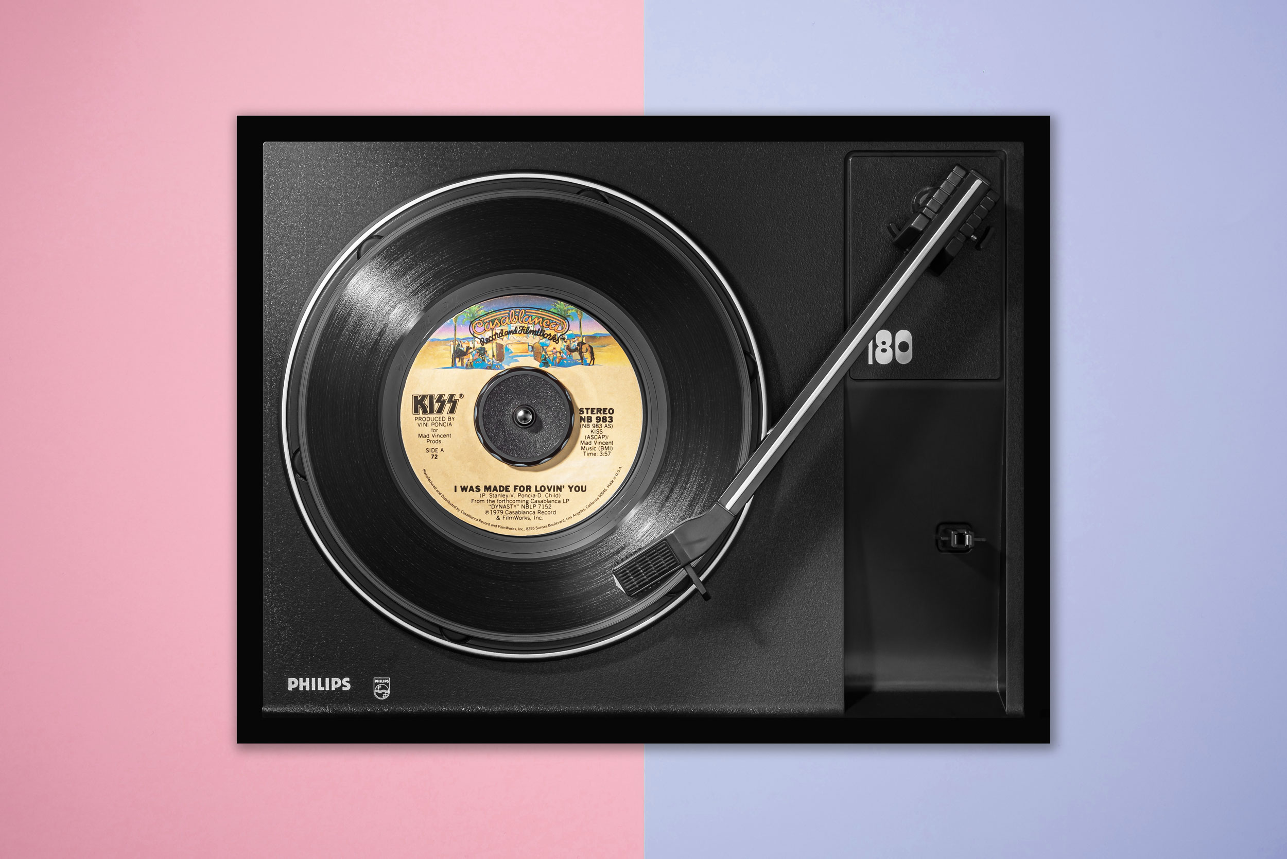Vinylography No. 15 Kiss I was made for loving you on Philips