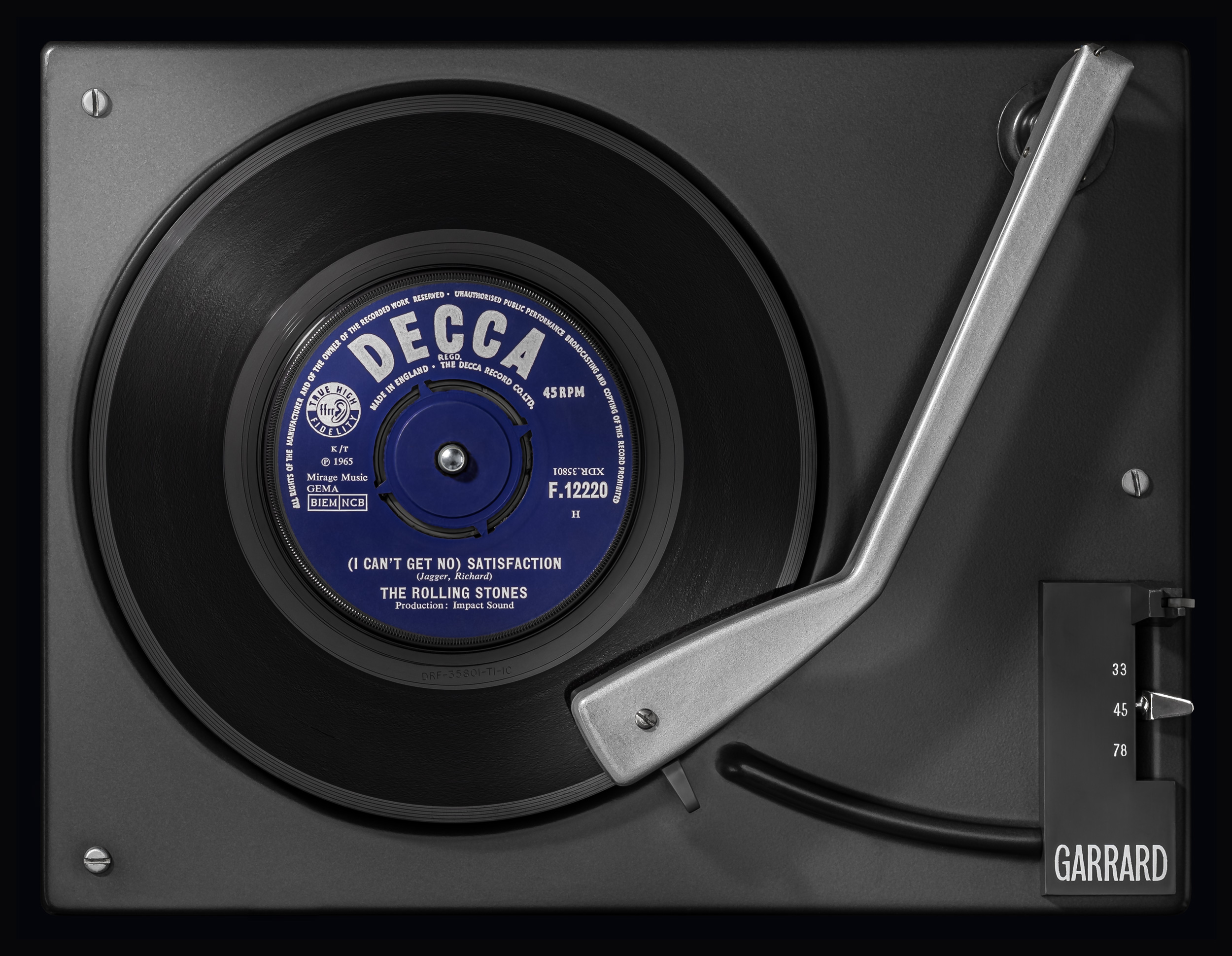 Vinylography No. 2 Rolling Stones (I can't get no) Satisfaction on Garrard SRP 22