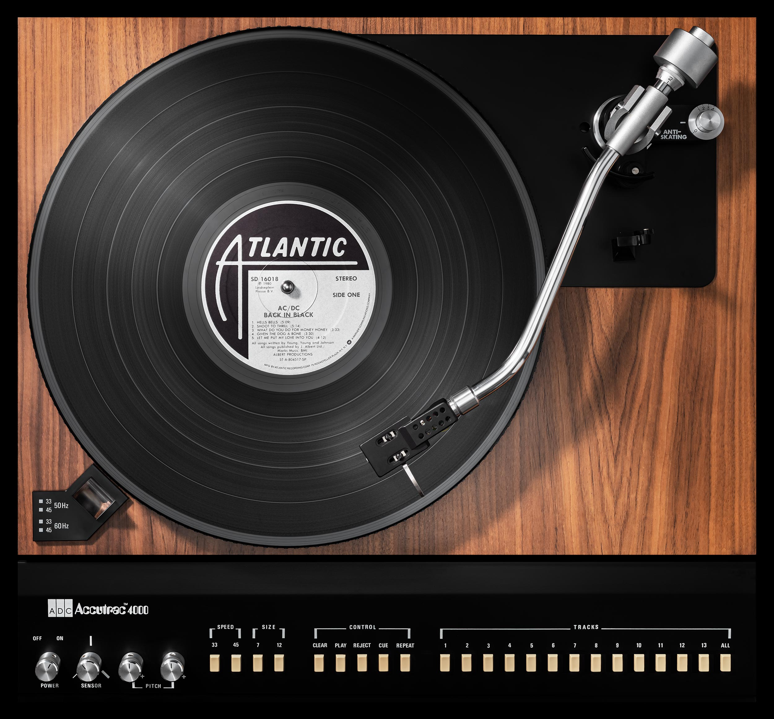 Vinylography No. 14 AC DC Back In Black on Accutrac 4000