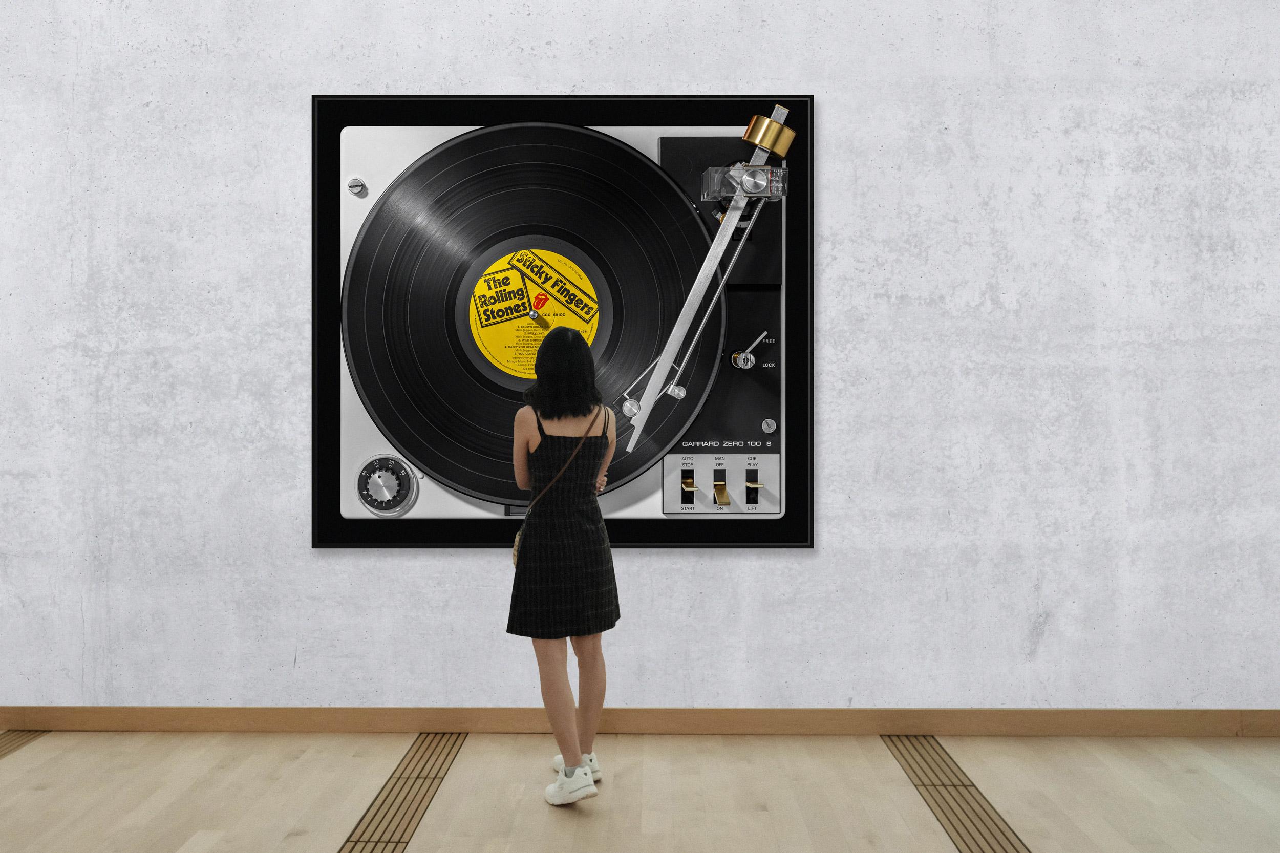 Vinylography No. 27 Rolling Stones Sticky Fingers on Garrard Zero 100 S